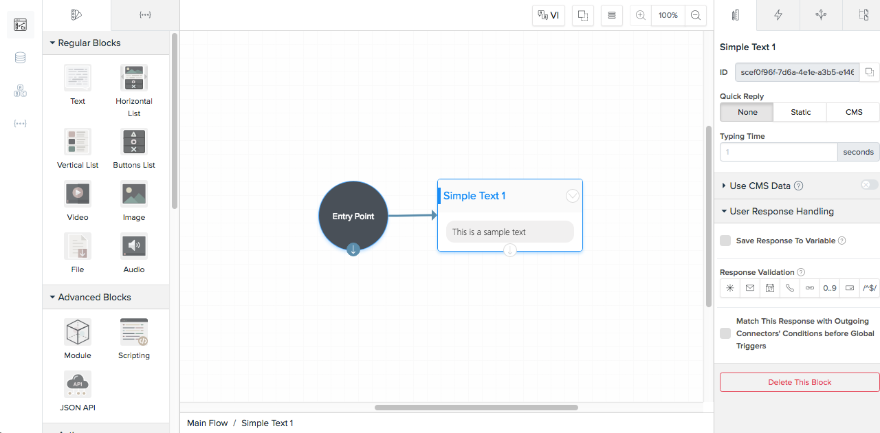 Design A Chatbot with Visual Flow · BotStar